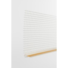 6mm PVC Window Reveal Bead c/w Mesh 2.4mtr