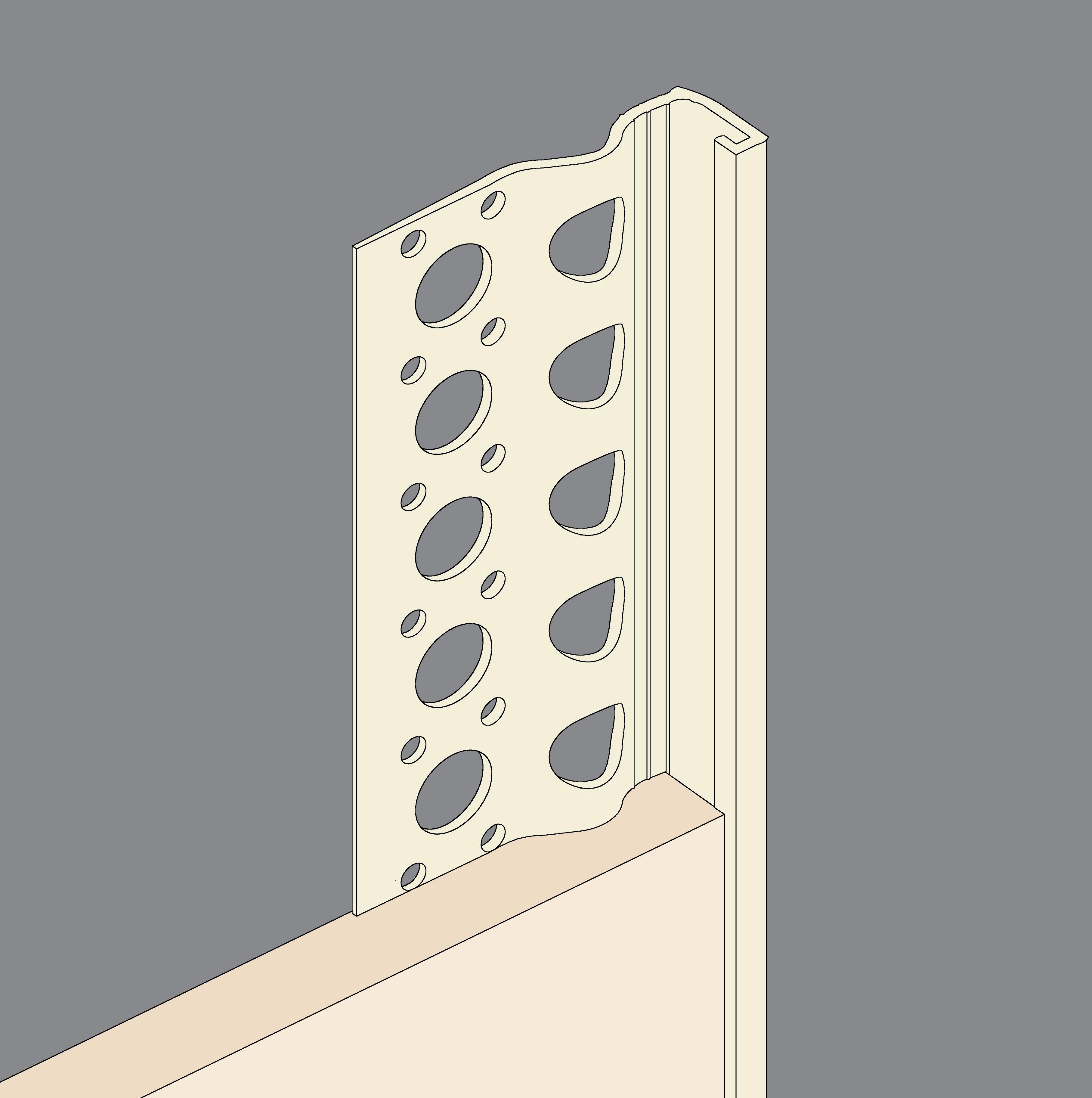 Cream PVCu Stopbeads