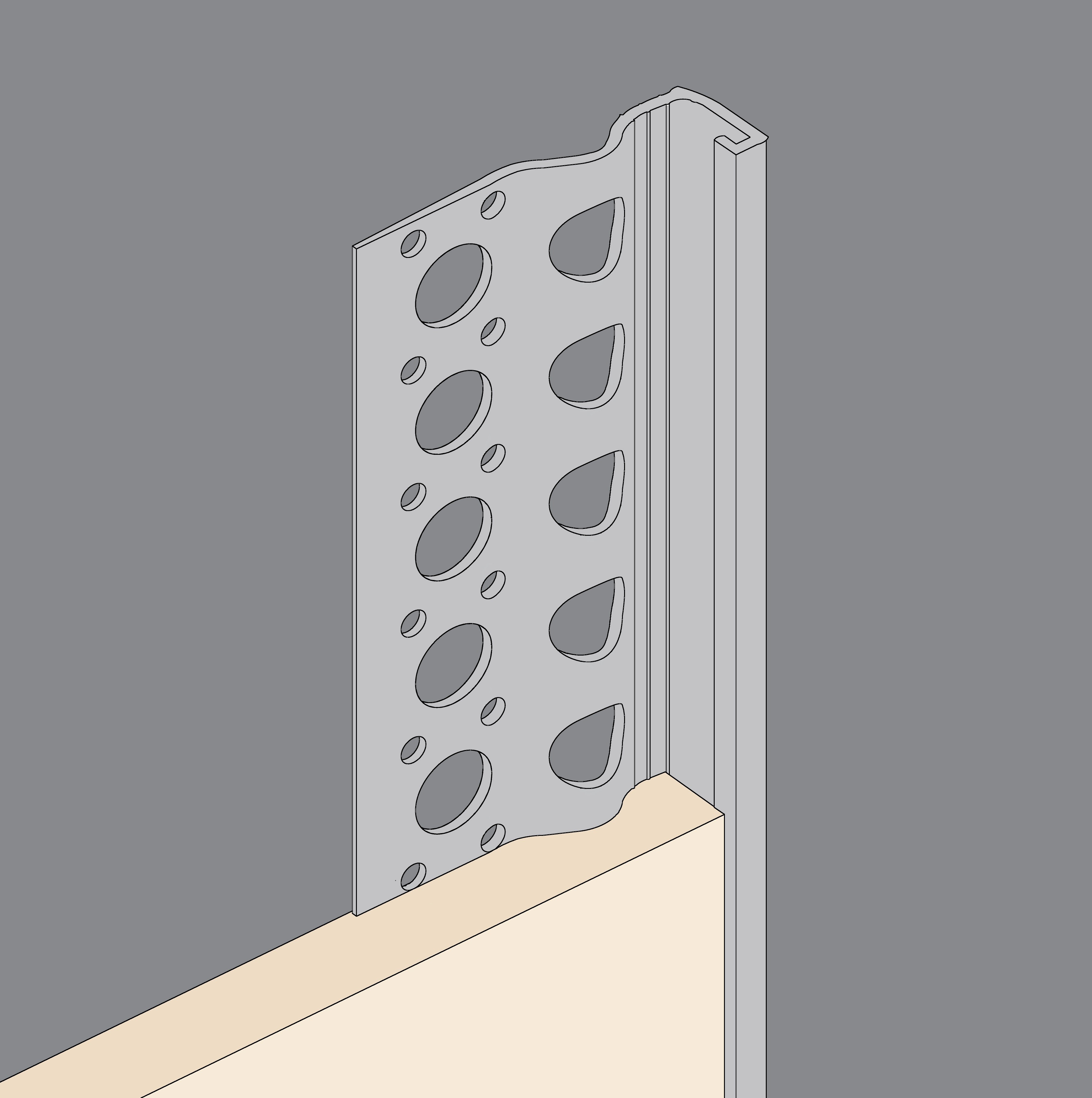 Grey PVCu Stopbeads
